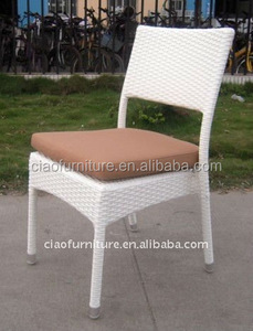 Rattan outdoor side chair stackable garden chairs without arms