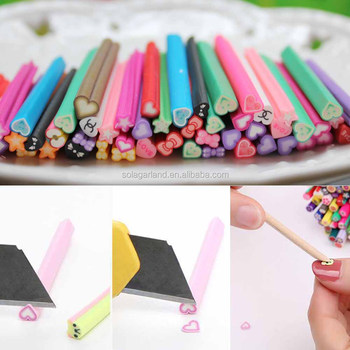 3d Fancy Nail Art Fimo Canes Stick Rod Polymer Clay Stickers Tips