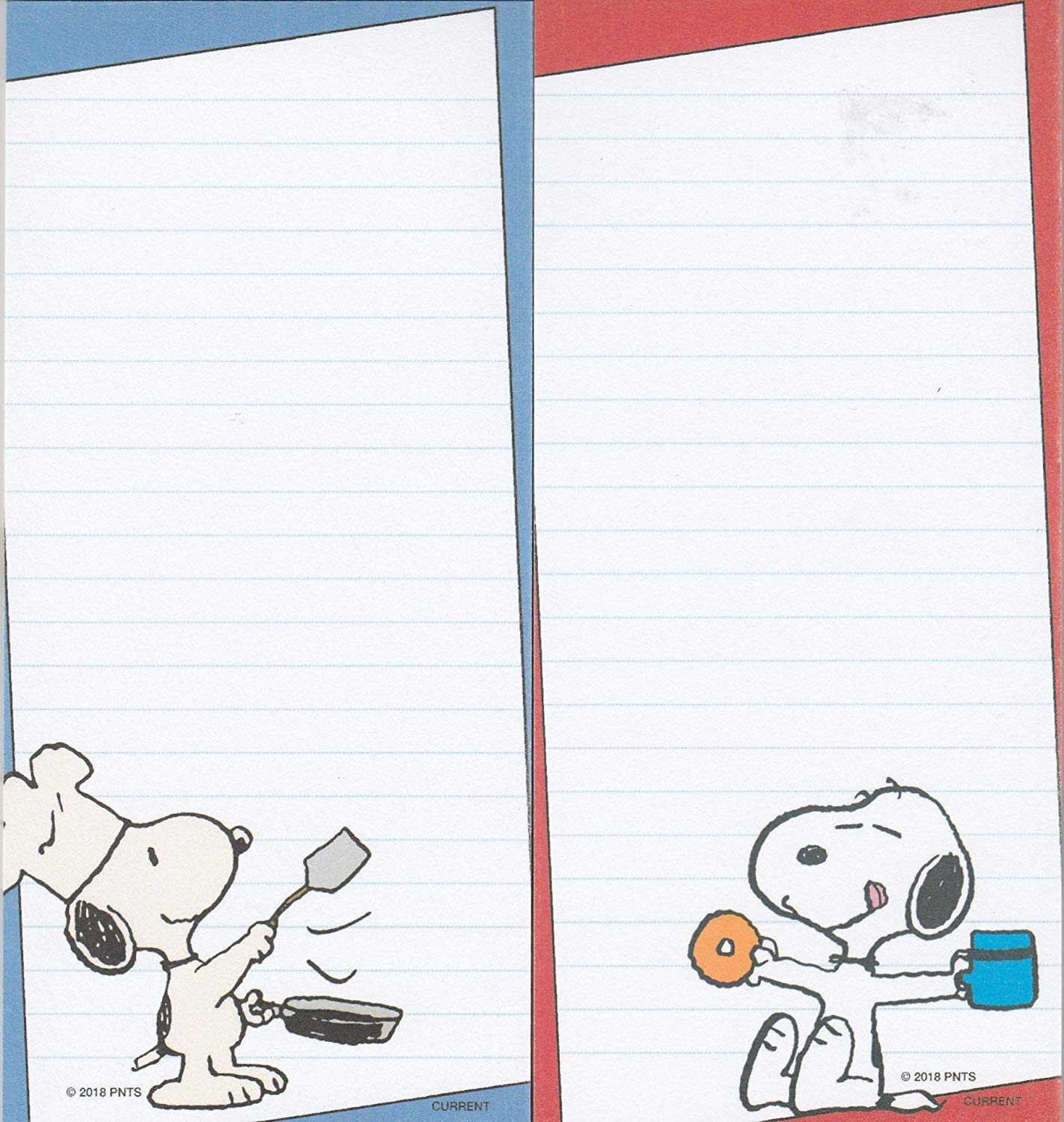 "SNOOPY NOTE LIST PAD WITH MAGNET /""COMIC/"" PINK LINED CUTE SNOOPY NEW"