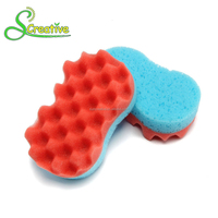 Exfoliating net natural seaweed foam baby bath sponge