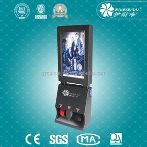 commercial led advertising electric shoe shiner machine for hotel