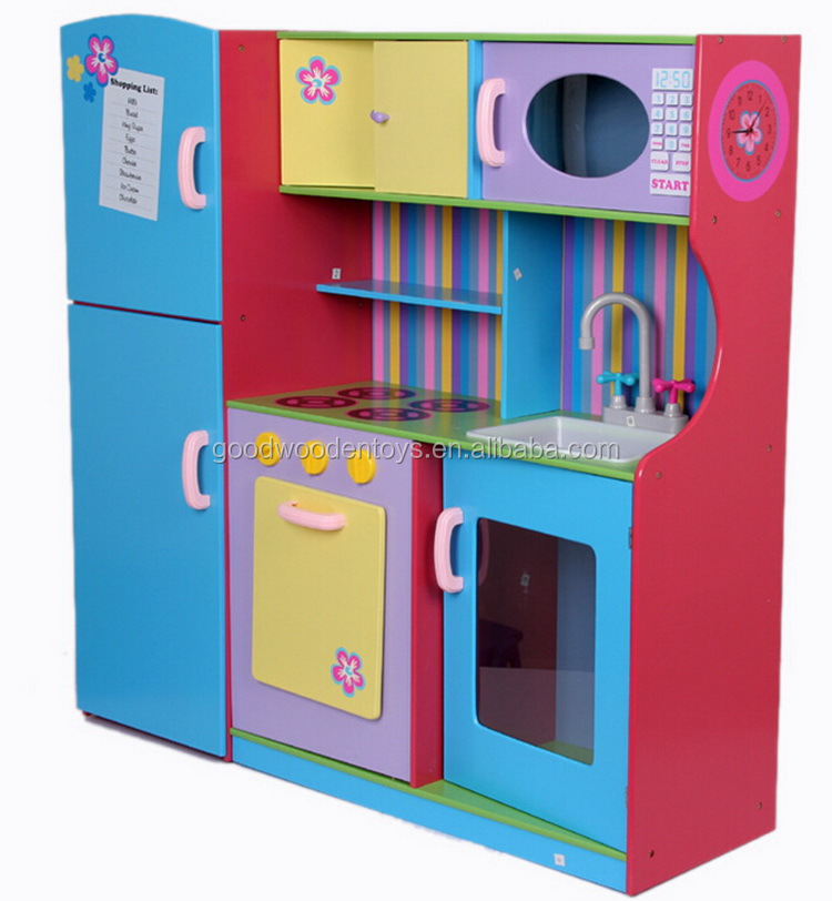Yunhe Factory Solid Wood Made Pretend Play Kitchen Set Best Selling