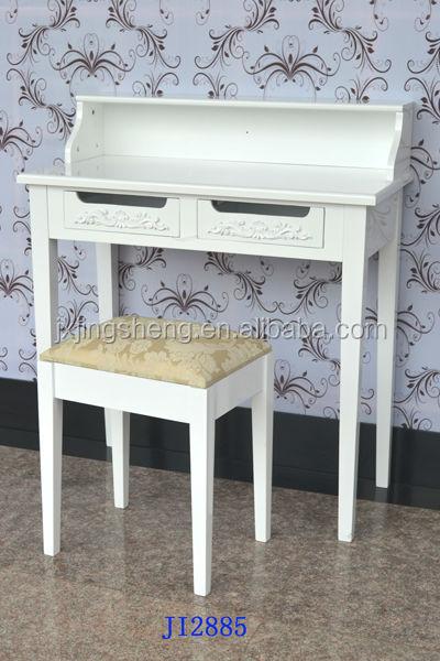 Wit ontworpen witte klassieke kaptafel met kruk computertafel studie bureau dressoirs product id - Kruk voor dressing ...