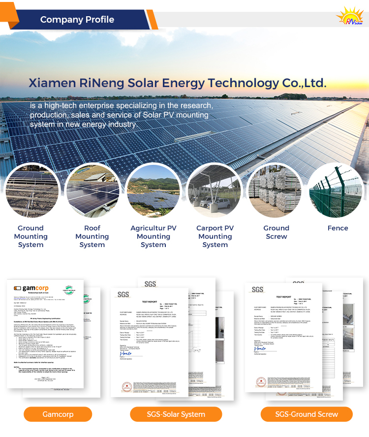 Solar Roof Mounting/ Solar Panel Mounting Structure/ Solar Panel