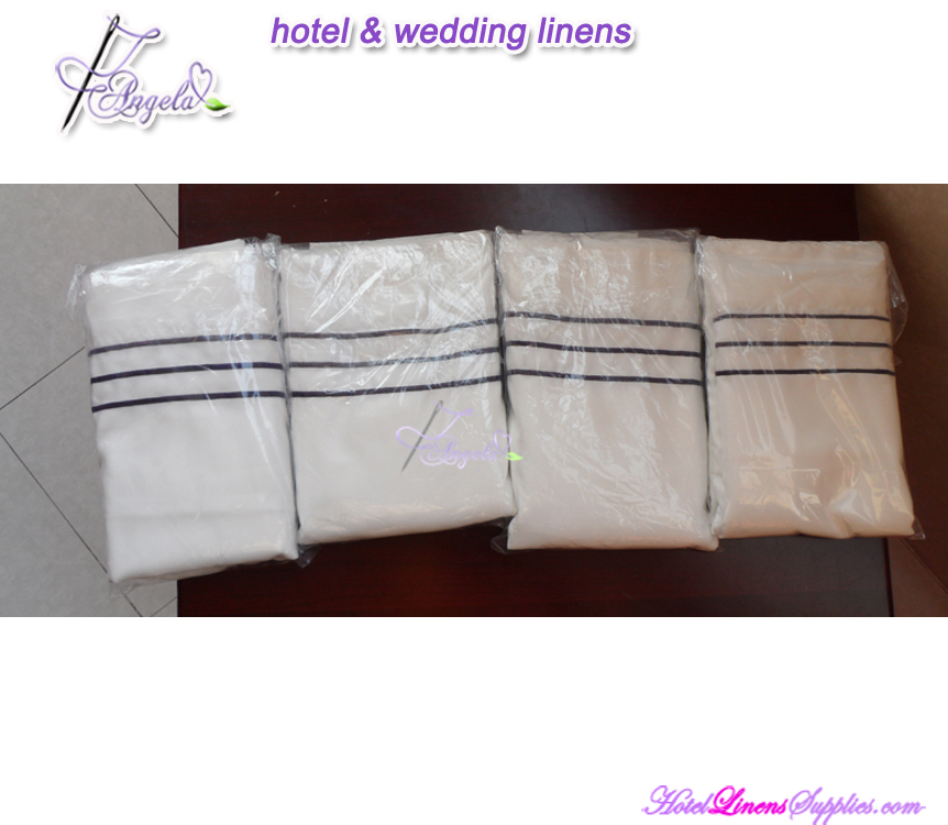 wholesale sateen duvet covers with embroidered border for hotels, motels, clubs