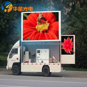 Factory directly sale Outdoor advertising mobile trailer/vehicle/van/truck mounted led display Led screen for bus advertising Ou