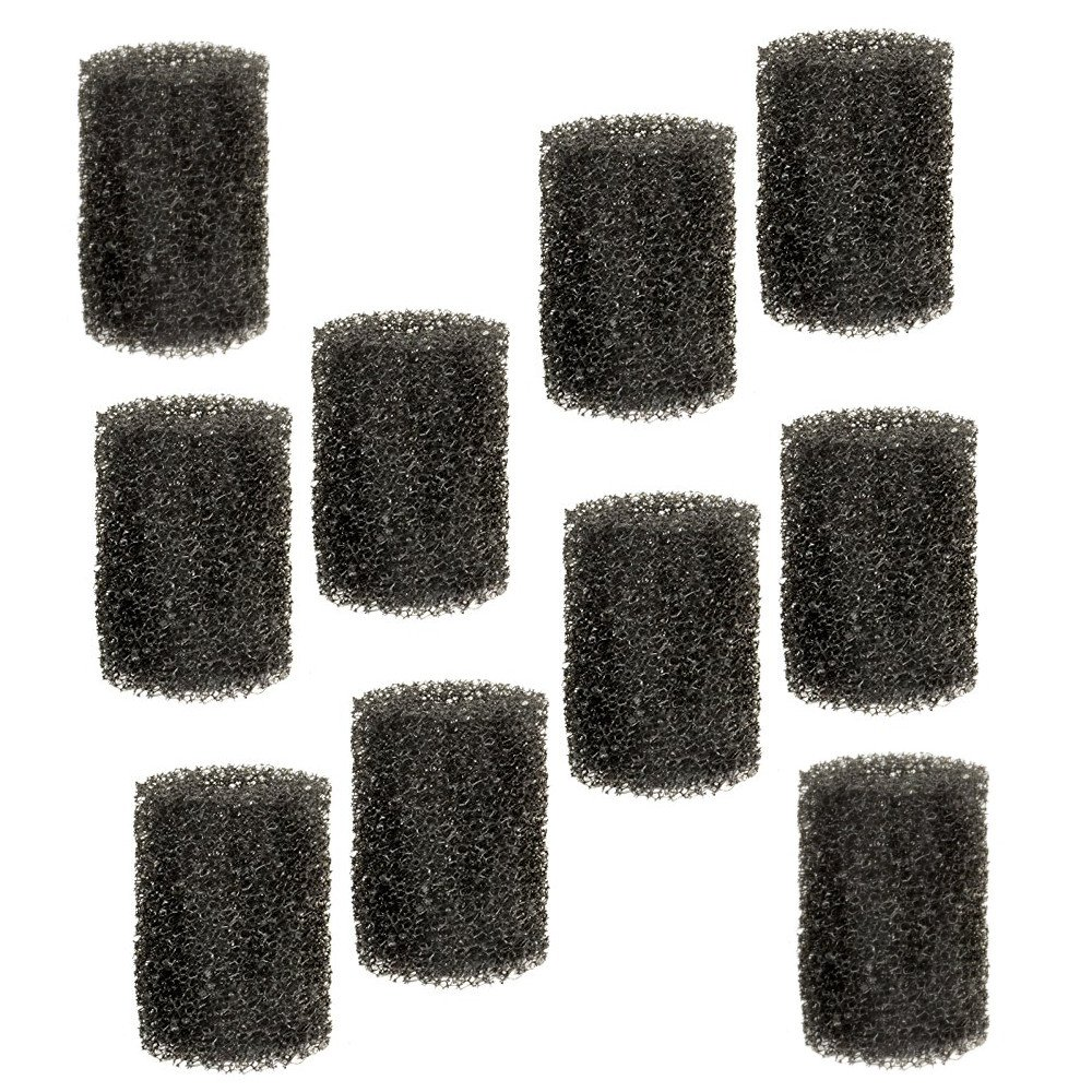 HQRP 10-Pack Pre-Filter Foam for Tetra Pond FK3 / FK-3/26594 Filtration Fountain Kit, 19016 Replacement Coaster