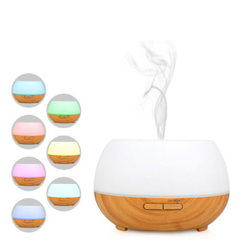 300ML Wood Grain Smart WiFi Aroma Diffuser Humidifier Ultrasonic