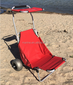 Aluminum Lightweight Folding Outdoor Camping Fishing Beach trolley with balloon wheel