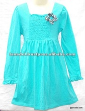 Fashionable Children's Clothing knit dress flower decoreated 2012