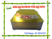 Junuo 48 chicken egg incubator with egg tester for sale