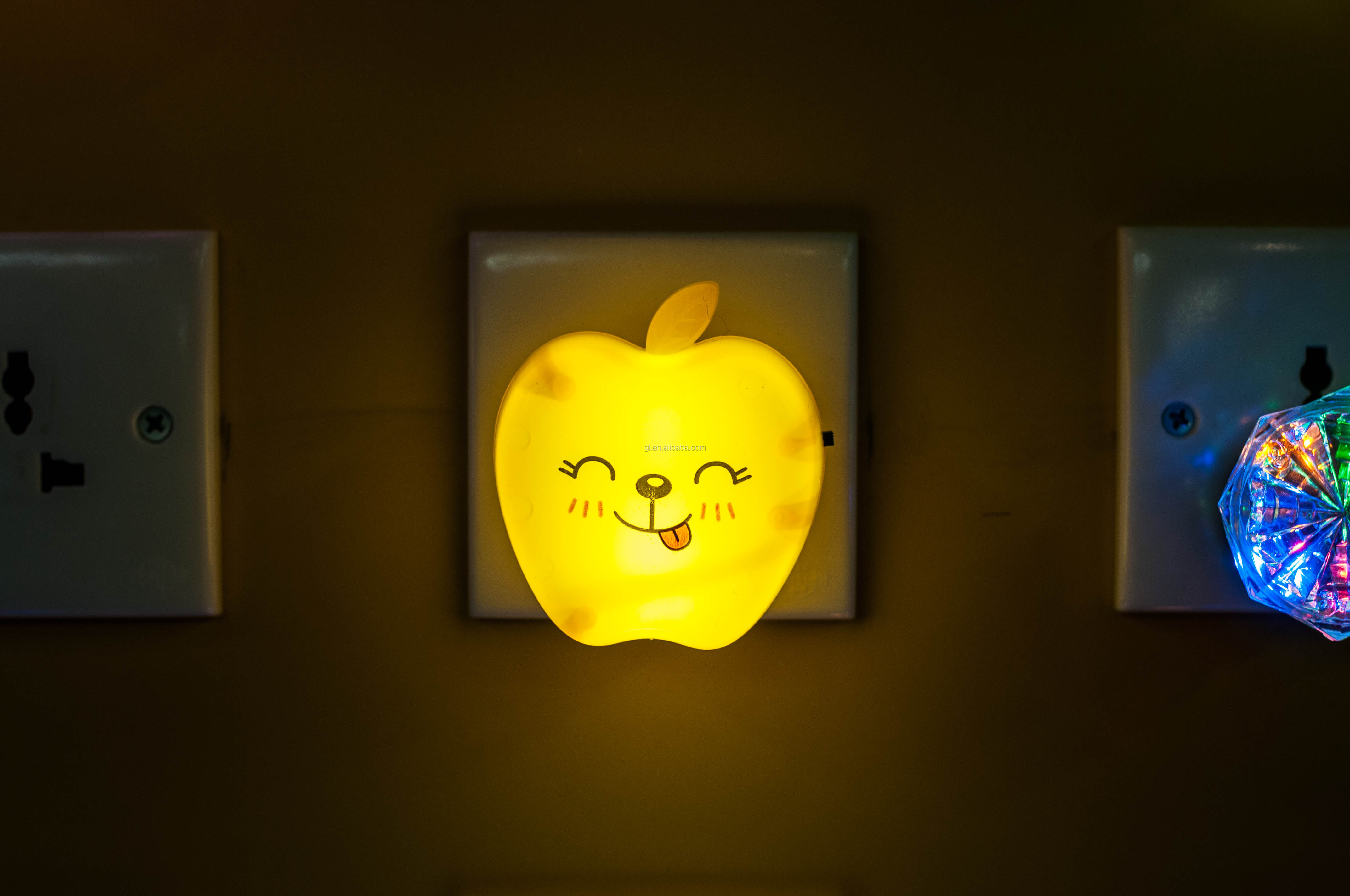 Fruit Apple shape plug in switch cartoon night light