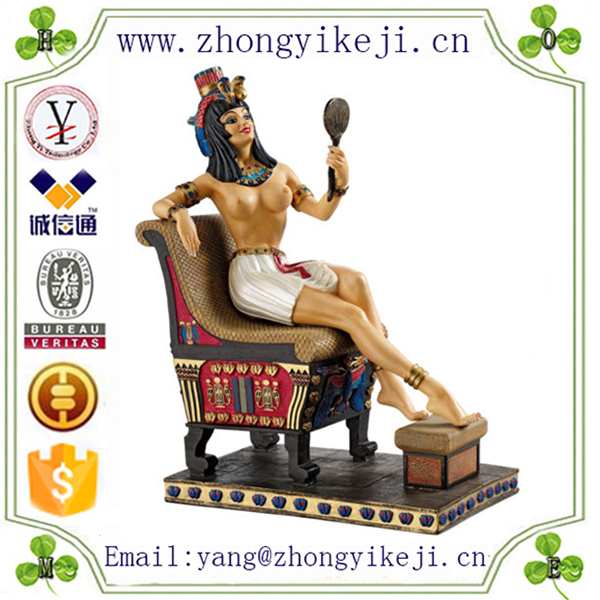 2015 chinese factory custom made handmade carved hot new products polyresin egyptian sculptures