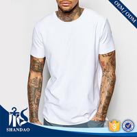 China Shandao manufacturer bangladesh cheap in bulk plain man short sleeve o-neck white fitness 160g 100 cotton t shirts
