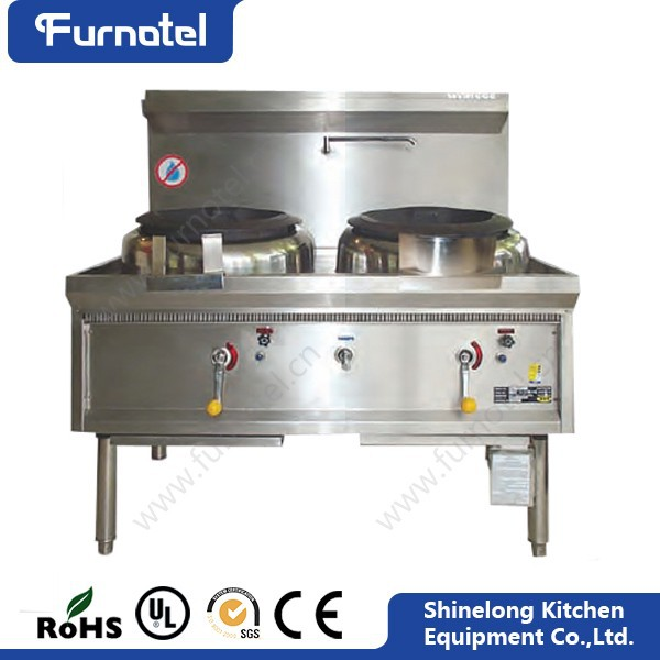 Commercial Kitchen Equipment Single/Double High Power Gas Wok