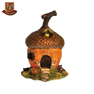 Factory custom made special design fairy house high quality polyresin miniature fairy house