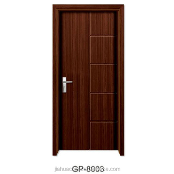 Pvc Flush Wooden Interior Swing Door Closing House Decorative Home