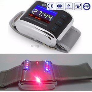 New arrival of red and blue laser therapy watch cure diabetes and hypertension LLLT instrument