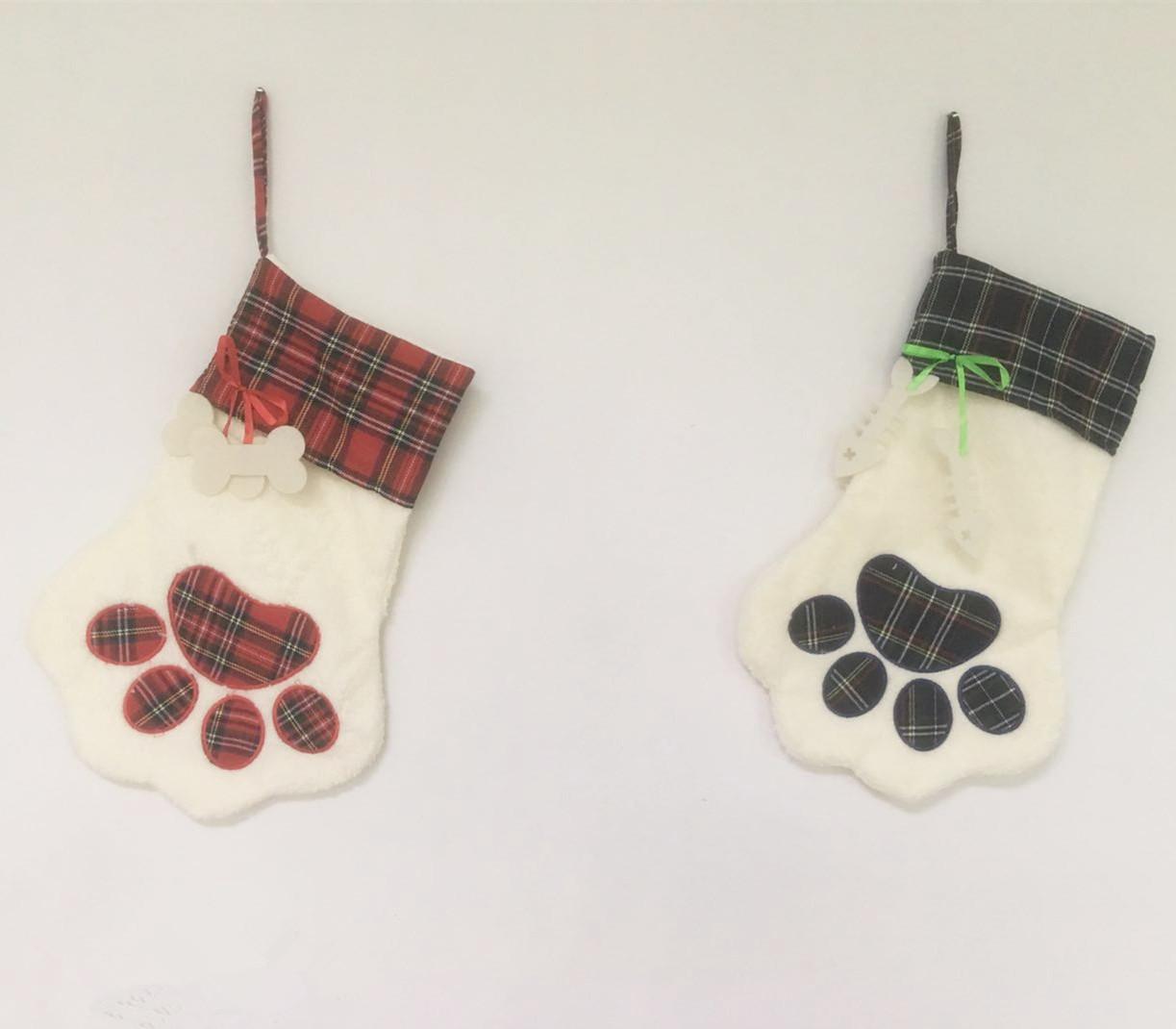 Personalize christmas fish shaped burlap dog bone stocking pet ...