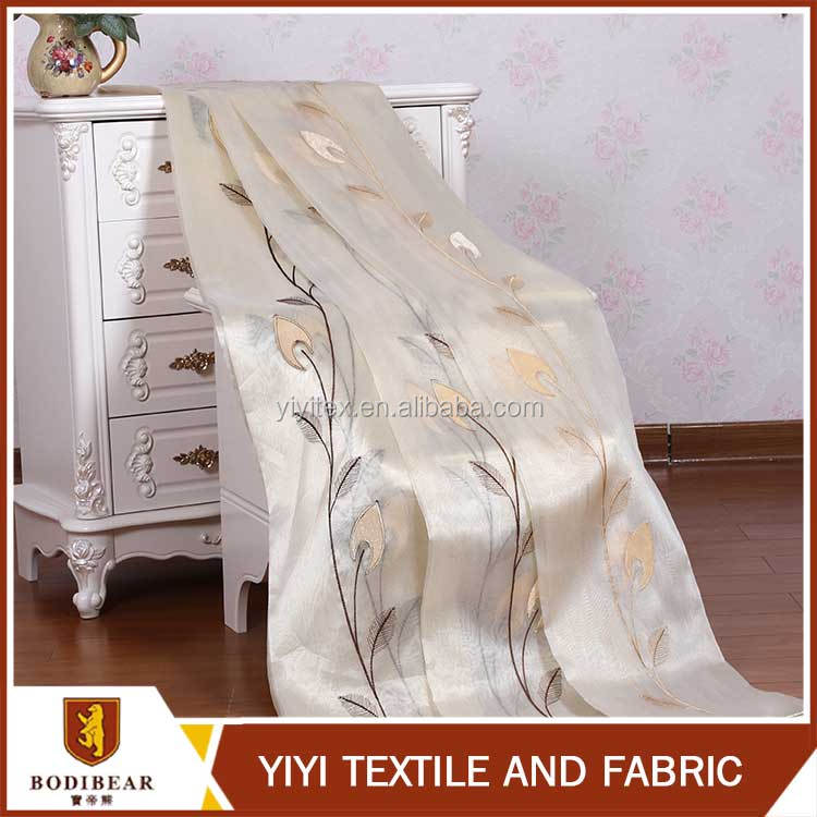 Wholesale New Fashion christmas luxury windows embroidered curtain fabric