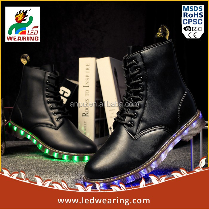 Holiday sneakers led led flashing shoe light light up dance shoes for party
