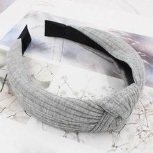 Женская повязка на голову LOVINGSHA, винтажная эластичная повязка на голову с узлом, не скользит, HB003(Китай)