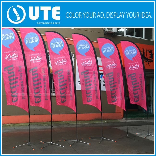 Custom Marketing Flags Double Sided Roadside Flag Banners