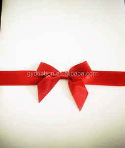 Newest Style Hot Red Pull Flower Ribbon Bows/ satin chair sash wedding chair sash,satin butterfly bow for wedding