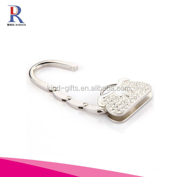 Foldable Hidden Hook Hanger for Purse & Handbag