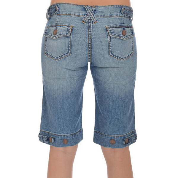 2015 Womens Denim Knee Length Stretch Blue Jeans Shorts Jxq818 ...