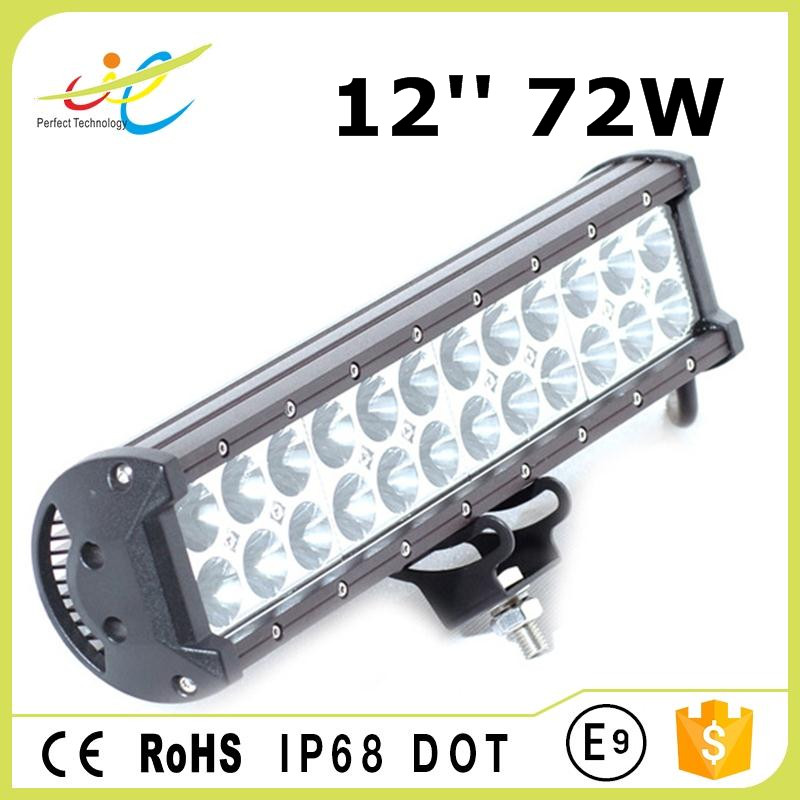 12inch cree 72W LED work driving light bar