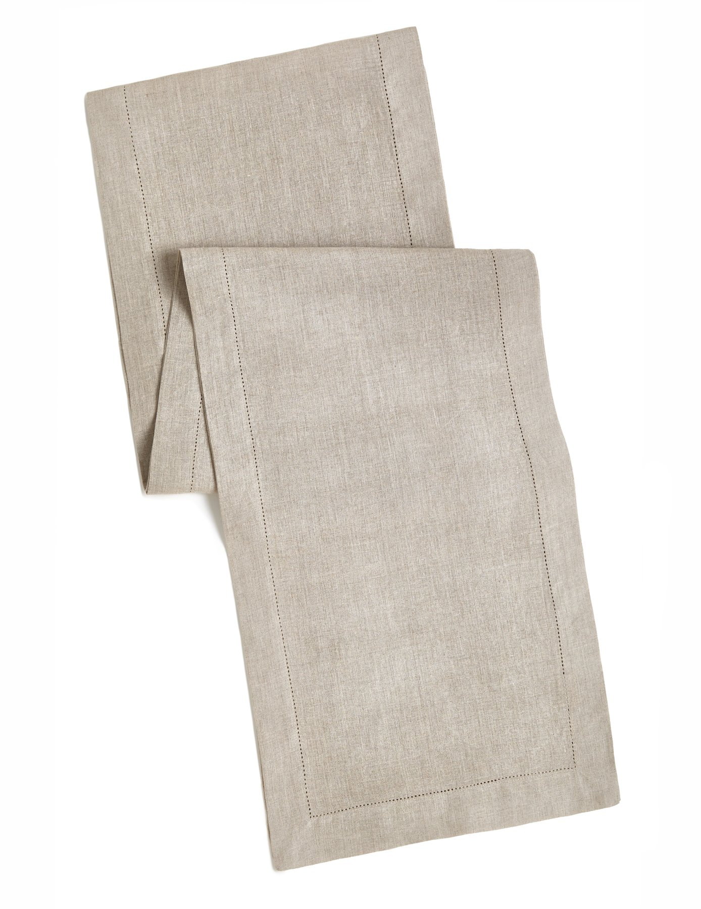 100% Linen Hemstitch Table Runner - Size 16x72 Natural - Hand Crafted and Hand Stitched Table Runner with Hemstitch detailing. The pure Linen fabric works well in both casual and formal settings