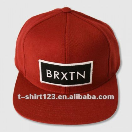 Fully Customized Embroidery Logo Snapback Hats With Square Peak Custom Embroidered Made Flat