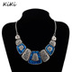 >>>Fashion Fan Shape Women Charm Necklace Fashion Indian Jewelry Vintage Collar Necklace Statement Accessories