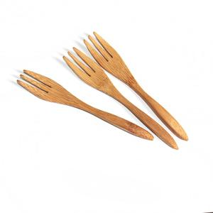 Wholesale icecream bamboo cutlery set wooden spoon Wooden Bamboo Cutlery Set With Kitchen Spoon Knife And Fork