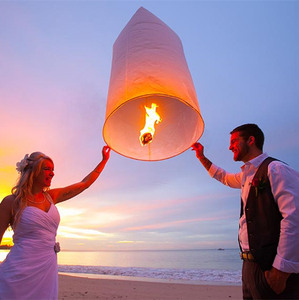 Chinese Colorful Wedding Paper Flying Thai Sky Lanterns