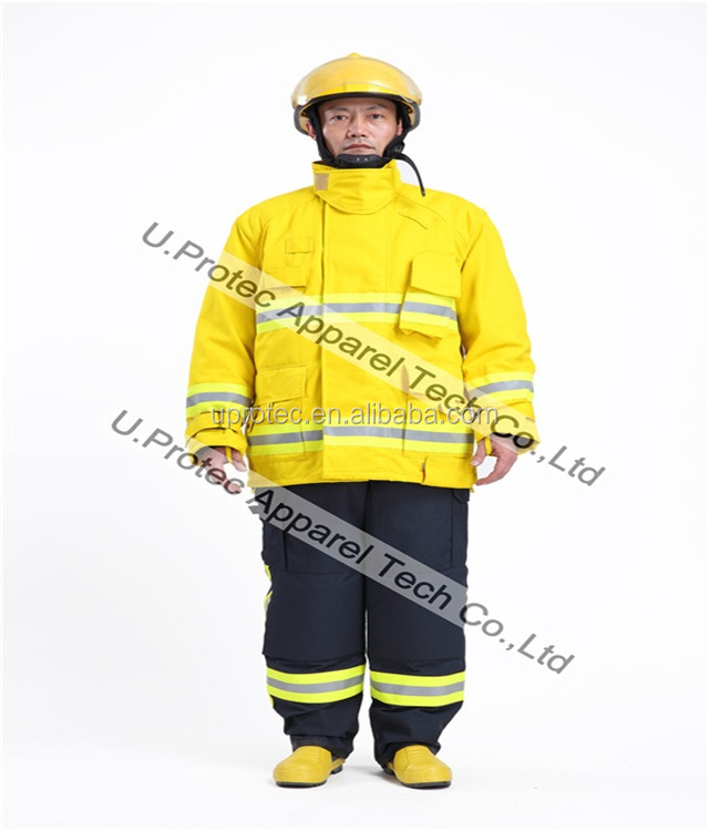 Top Quality NFPA1971 Structural Firefighting Suit / NOMEX/KEVLAR Firefighting Suit Manufacturer