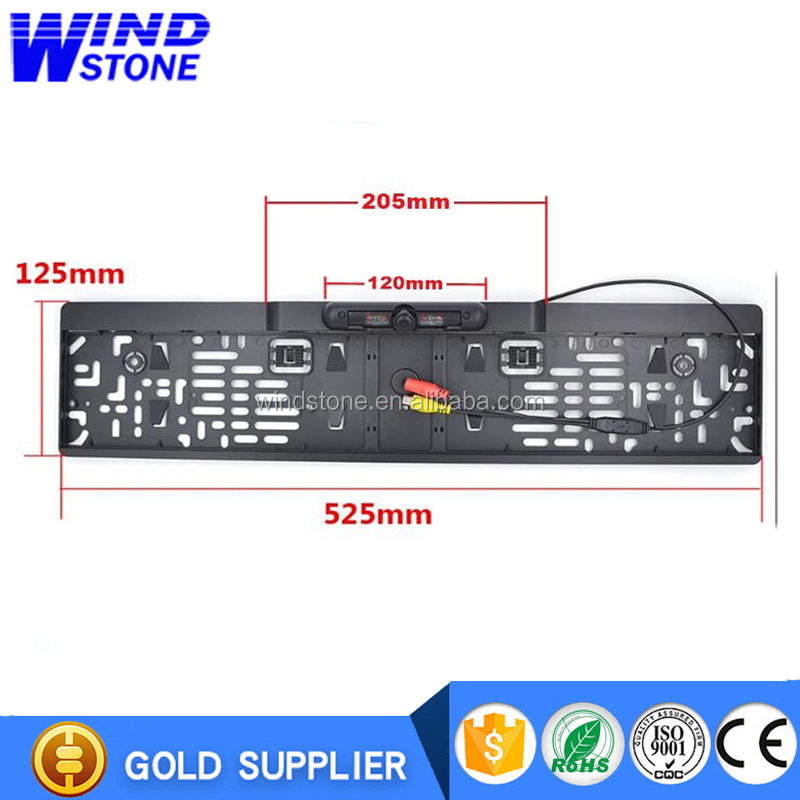 European License Plate Frame Rear View Camera Auto Car Reverse Backup Parking Rearview Camera Night Vision 170 Degree