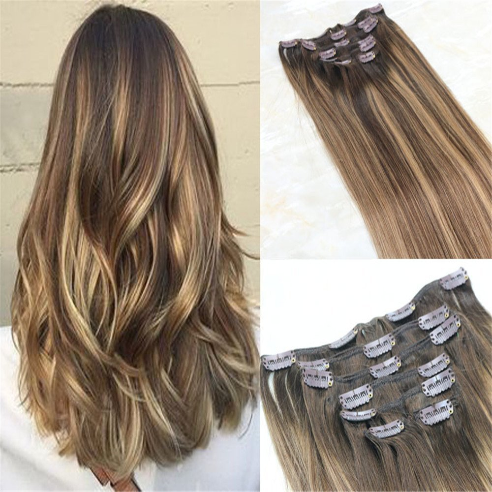 Buy Hairdancing 22 120g 7pcs Full Head Clip In Hair Extensions Real