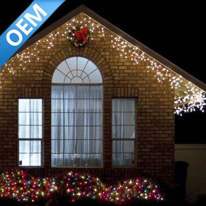 3m Fairy Waterfall Outdoor Christmas Icicle Lights Led For Weeding Decoration