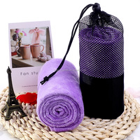 Absorbent Drying Quick Dry Custom Microfiber Travel Towel Beach Towel Sports Towel With Net Bag