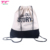 2019 New Trend Eco-friendly String Bag Custom Brand Natural Cotton Drawstring Bag Backpack