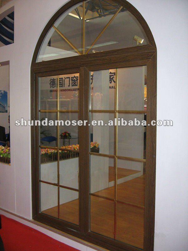 Moser Estilo Alemn Interior Puerta De Madera Doble De Arco Superior