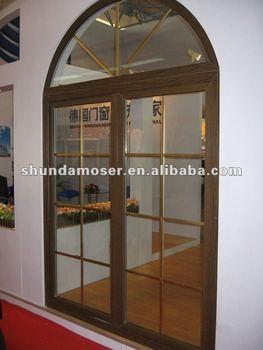 Moser German Style Interior Double Wooden Door Arch Top