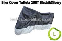170T Silver Universal Waterproof Anti UV Wind Motorbike Motorcycle Cover Black Silver XXL