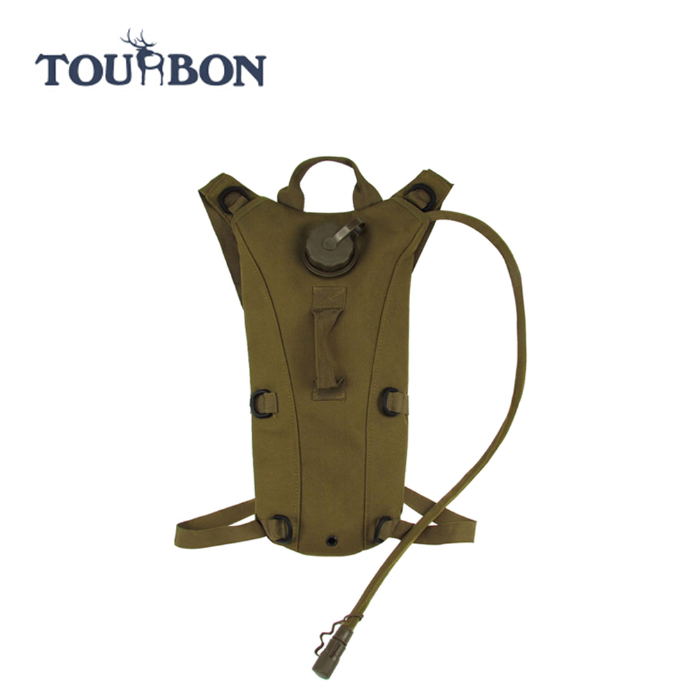 TOURBON outdoor camping hiking 2.5L Military Molle Backpack Water Bag hydration pack