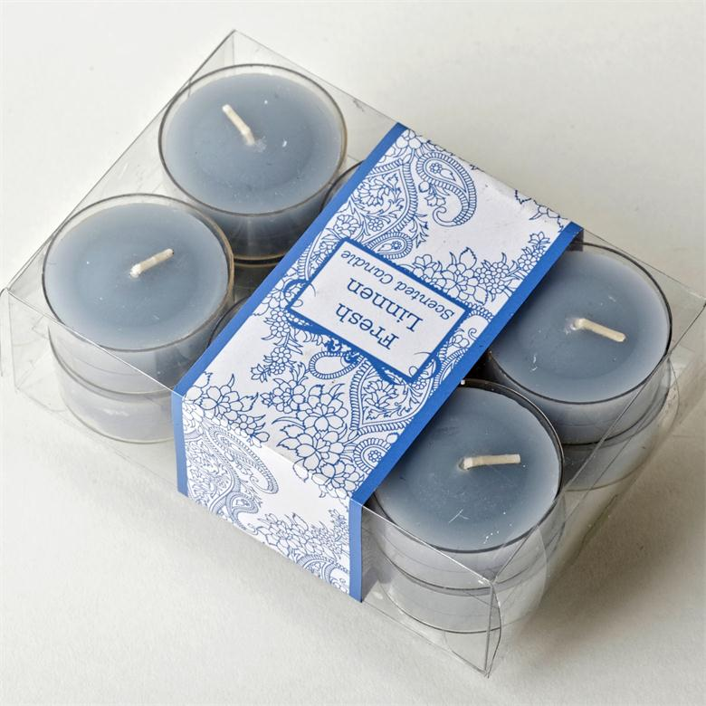 Blue Sky Round Shape With Plastic Basis tealight candle
