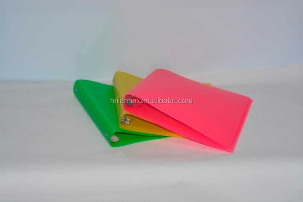 Milan Custom Wholesale Made Office Stationery Neon 3 ring binder