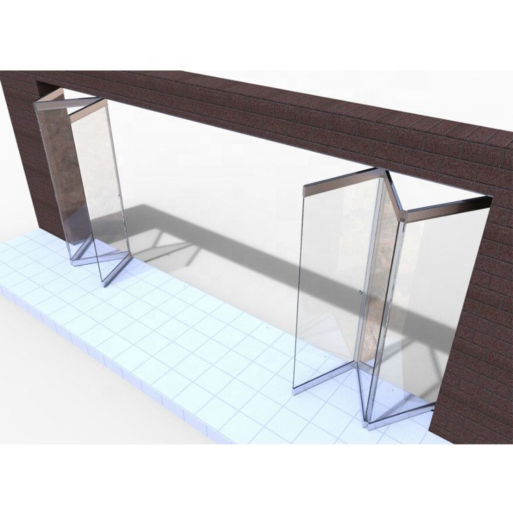 Save Space Partition Tempered Frameless Glass Folding <strong>Door</strong>