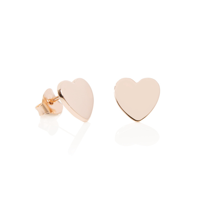 Latest Cute S Earrings Simple Heart Stud Whole Product On